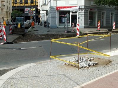 Bau Fußgängerüberweg